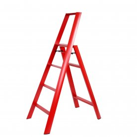 "STEP STOOL ""FOLDABLE"" RED"