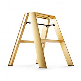 "ALUMINIUM STEP STOOL ""FOLDABLE"" GOLD"
