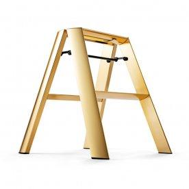 """ALUMINIUM STEP STOOL """"FOLDABLE"""" GOLD"""