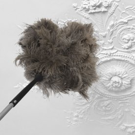DUSTER TELESCOPIC IN OSTRICH FEATHER