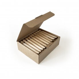 BOX OF 30 VINTAGE WOODEN CLOTHESPINS
