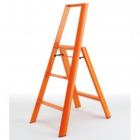 ESCABEAU PLIANT ORANGE 3 MARCHES EN ALUMINIUM