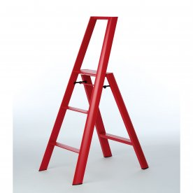 "ALUMINIUM 3 STEP STOOL ""FOLDABLE"" RED"